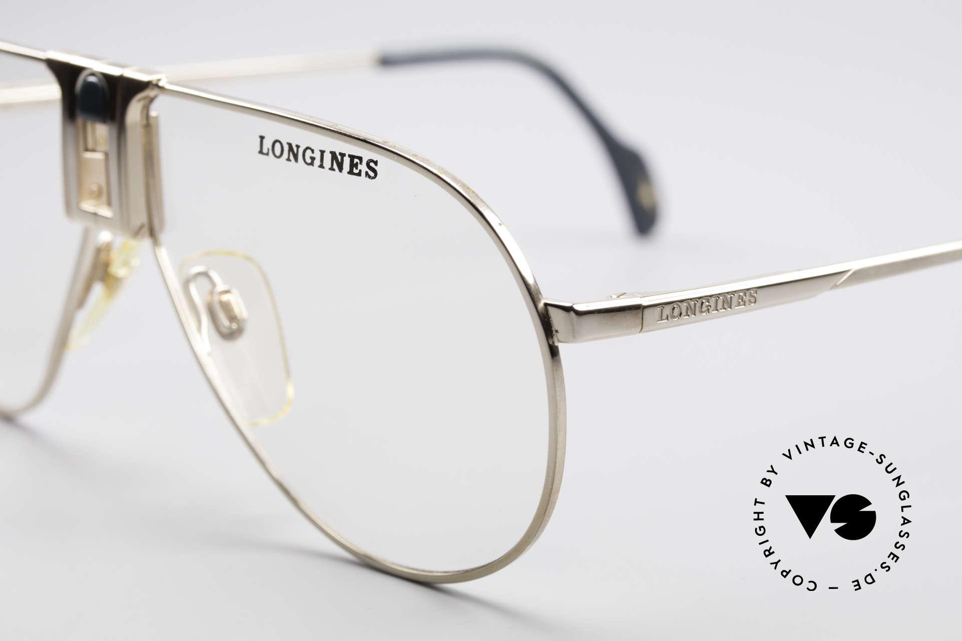 Longines 0154 Echte 80er Aviator Brille, ungetragen (wie alle unsere vintage Brillengestelle), Passend für Herren