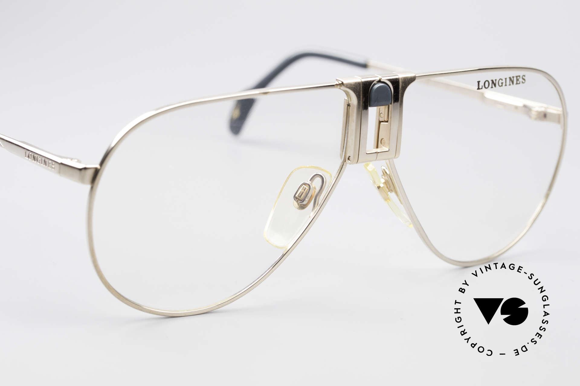 Longines 0154 Echte 80er Aviator Brille, KEINE RETROBRILLE, sondern ein 1980er ORIGINAL, Passend für Herren