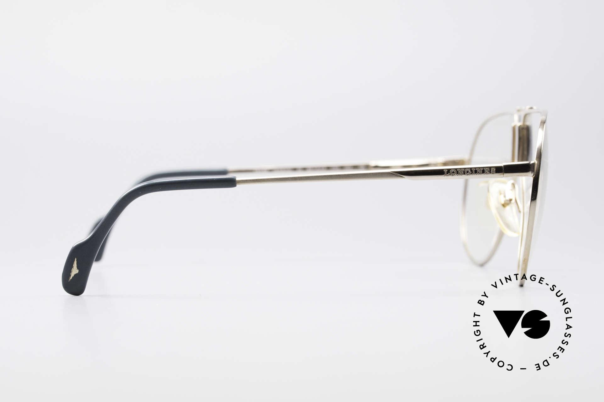 Longines 0154 Echte 80er Aviator Brille, enorm hochwertig und markant (mal 'was anderes'), Passend für Herren