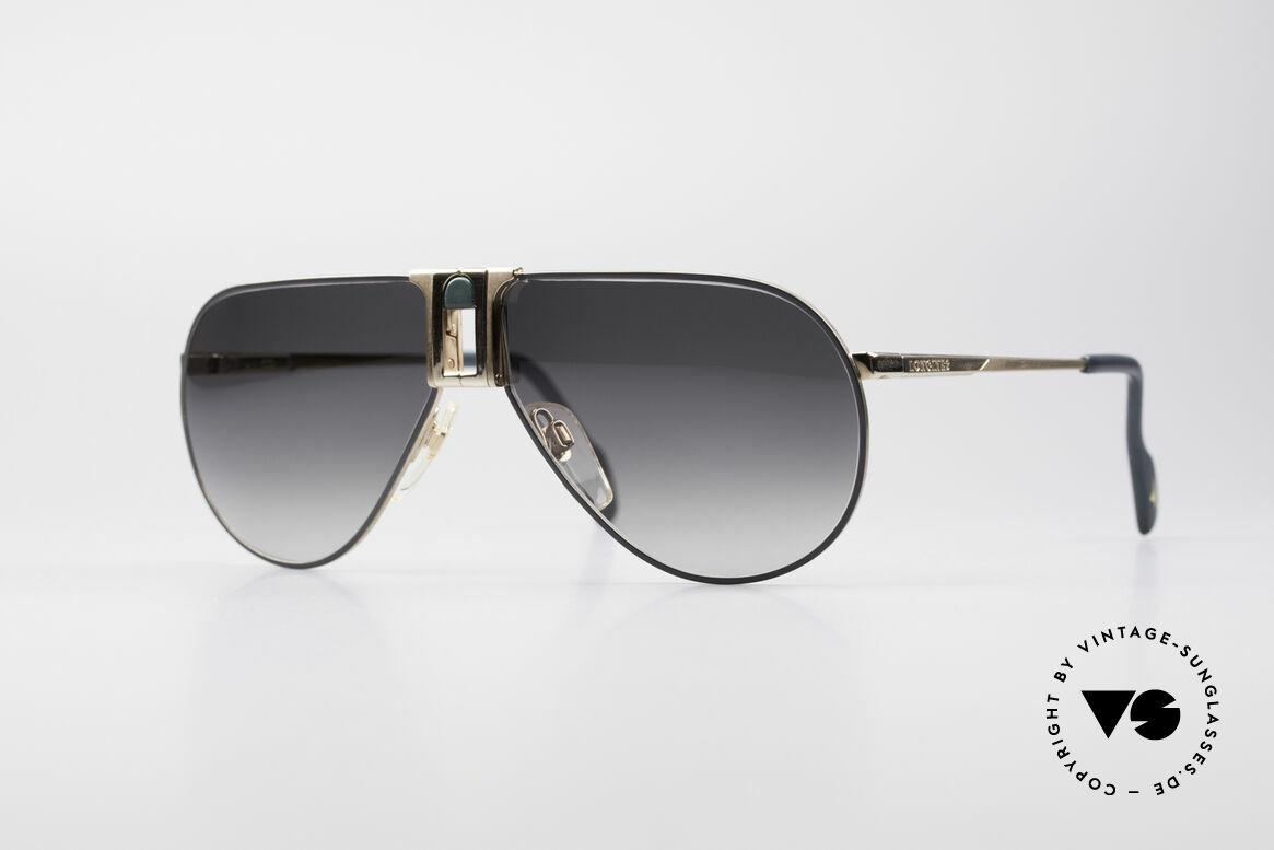 "Longines 0154 80er Aviator Sonnenbrille, hochwertige vintage Longines ""Aviator""-Sonnenbrille, Passend für Herren"