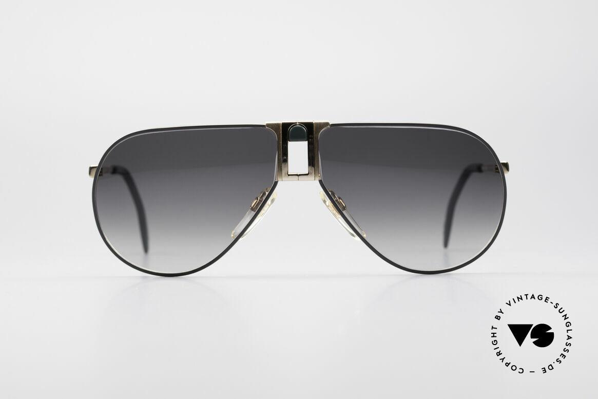 Longines 0154 80er Aviator Sonnenbrille, sehr edler Rahmen mit Federscharnieren by Metzler, Passend für Herren