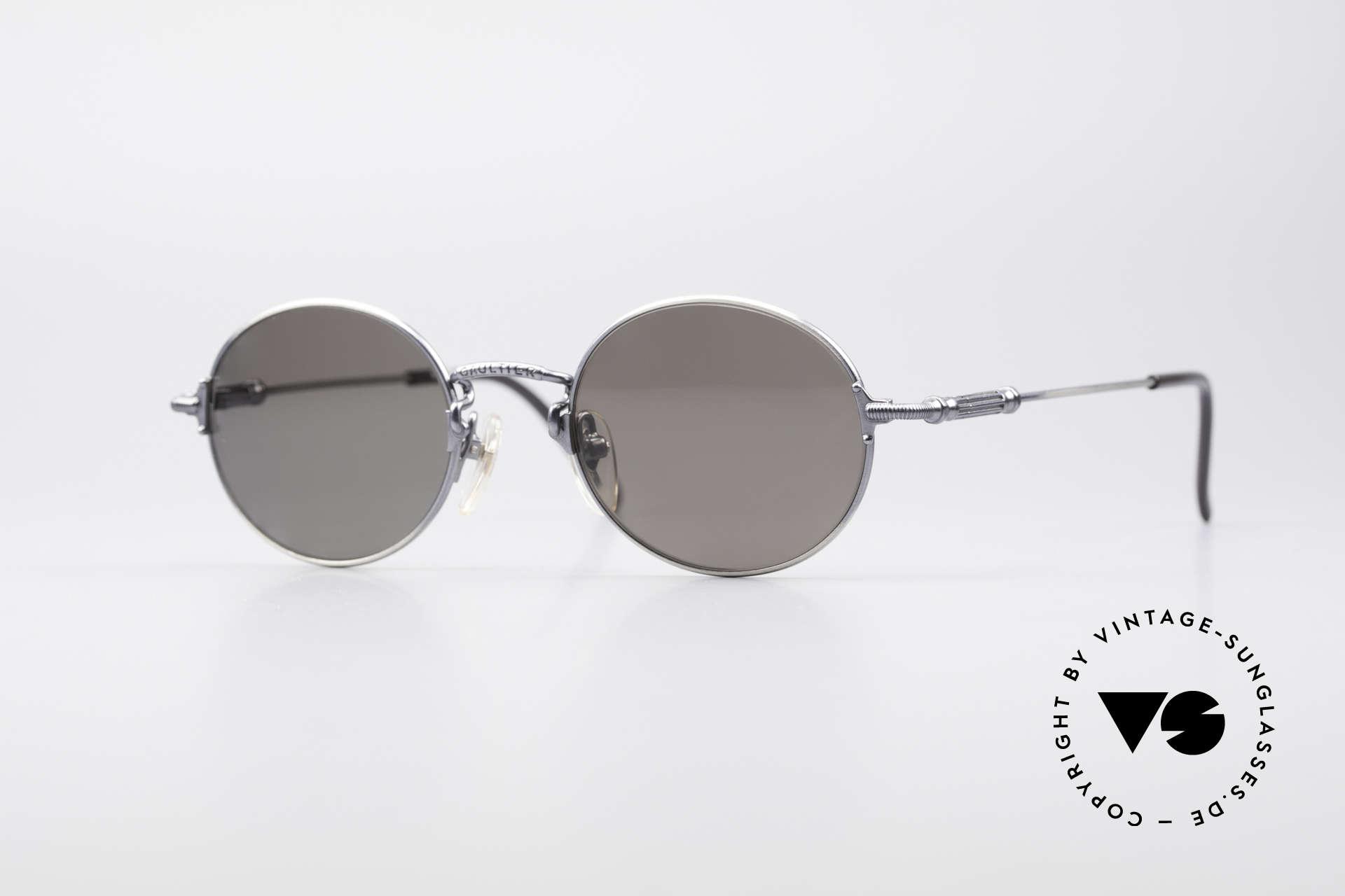 Jean Paul Gaultier 55-6109 Kleine Brille Polarisierend, kleine, runde vintage Brille von Jean Paul GAULTIER, Passend für Herren und Damen
