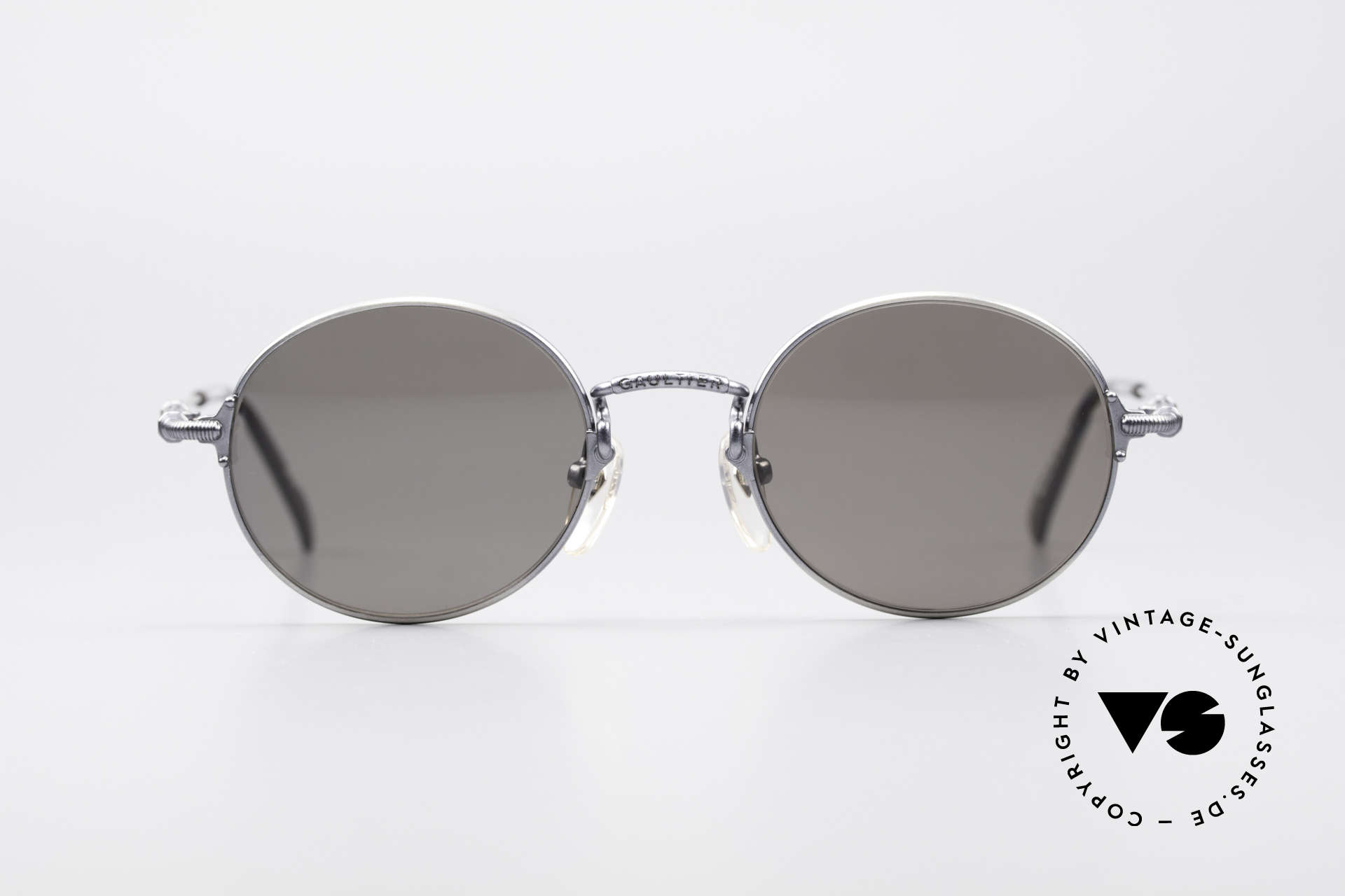 """Jean Paul Gaultier 55-6109 Kleine Brille Polarisierend, Metall-Fassung (SMALL Gr. 48/19) in """"smoke silver"""", Passend für Herren und Damen"""