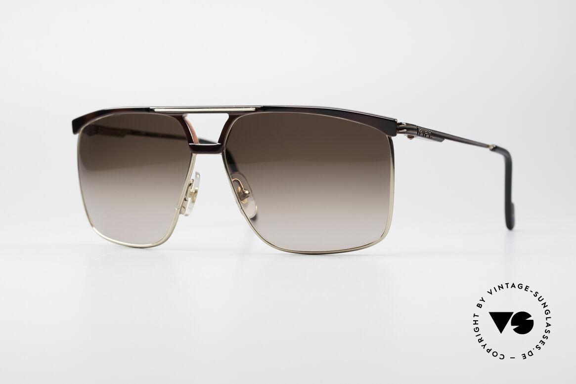 Ferrari F35 Alutanium 80er Sonnenbrille, sehr maskuline Ferrari vintage Herren-Sonnenbrille, Passend für Herren