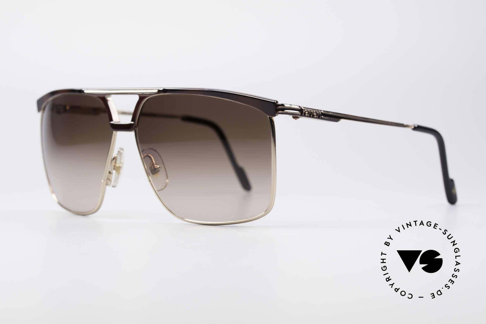 Ferrari F35 Alutanium 80er Sonnenbrille, Alutanium-Fassung mit flexiblen Federscharnieren, Passend für Herren