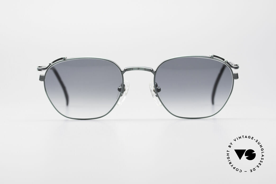 Jean Paul Gaultier 55-3173 Designer 90er Sonnenbrille, ultraleichtes JPG Gestell und sehr reich an Details, Passend für Herren und Damen