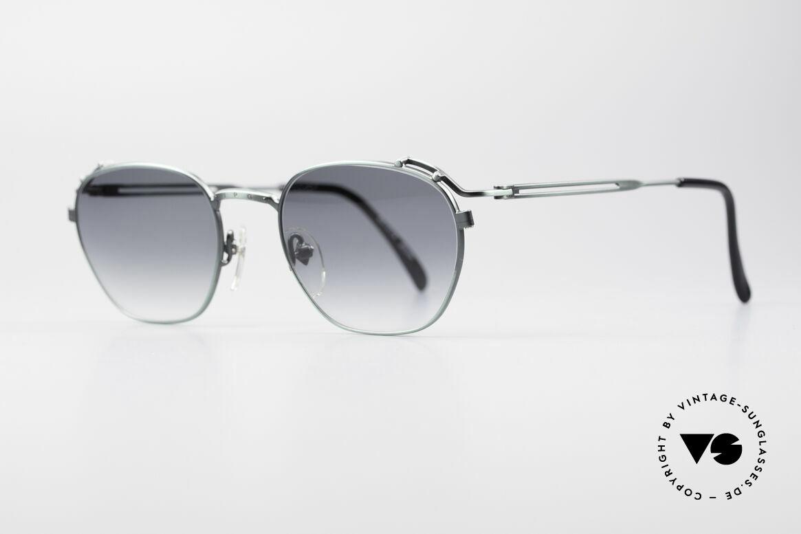 """Jean Paul Gaultier 55-3173 Designer 90er Sonnenbrille, tolle Metallarbeiten in """"antik grün"""" / """"smoke grün"""", Passend für Herren und Damen"""