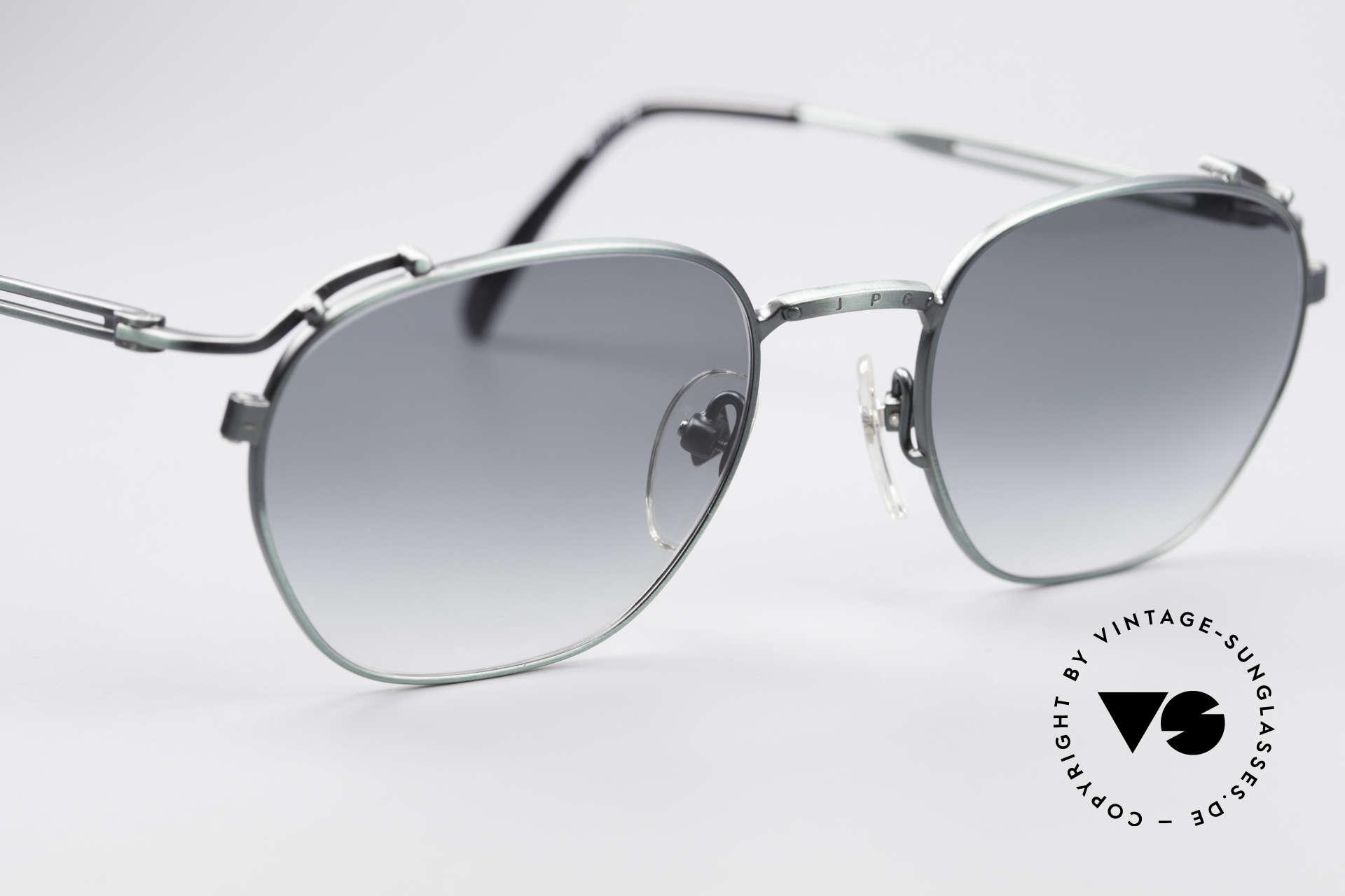 Jean Paul Gaultier 55-3173 Designer 90er Sonnenbrille, ungetragen; wie alle unsere 90er JPG Sonnenbrillen, Passend für Herren und Damen