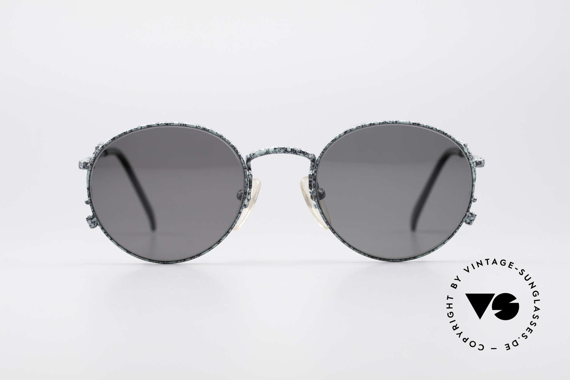 """Jean Paul Gaultier 55-3178 Polarisierende Sonnenbrille, Metallgestell in antiker """"rusty green"""" Lackierung, Passend für Herren und Damen"""
