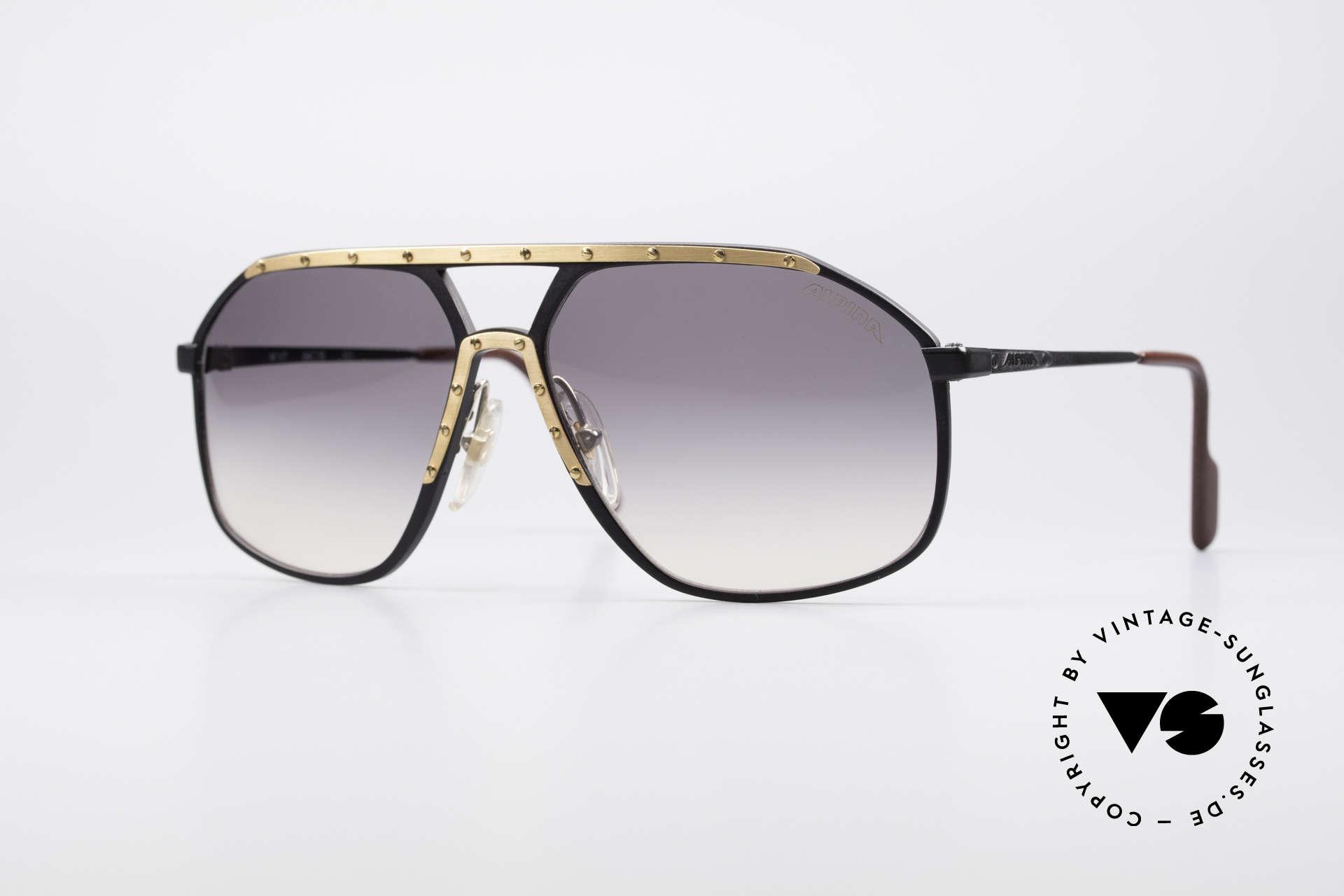 Alpina M1/7 Echte Vintage Sonnenbrille, legendäre Alpina M1/7 vintage Designer-Sonnenbrille, Passend für Herren