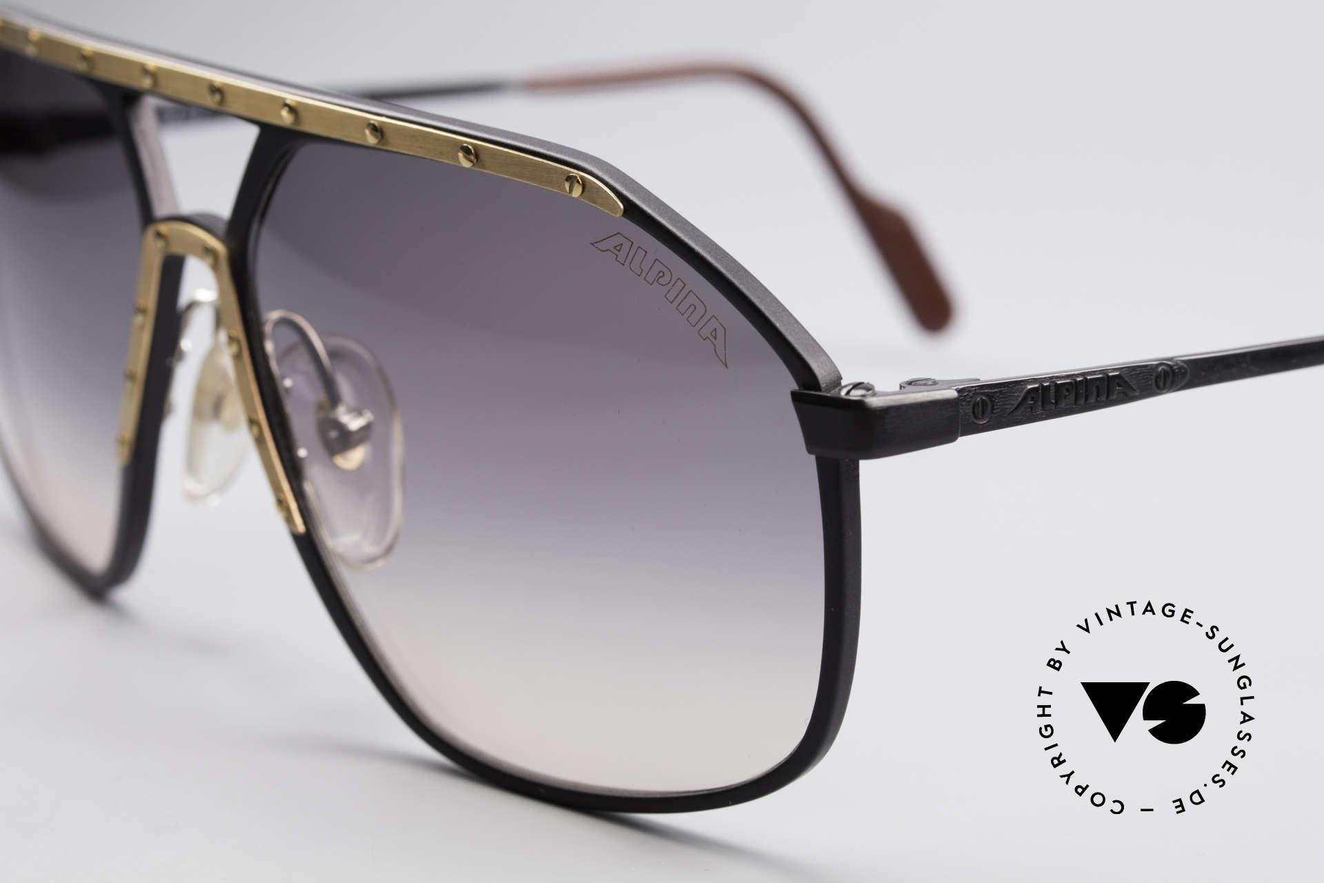 Alpina M1/7 Echte Vintage Sonnenbrille, ein Hybrid aus den Klassikern Alpina M1 & Alpina M6, Passend für Herren