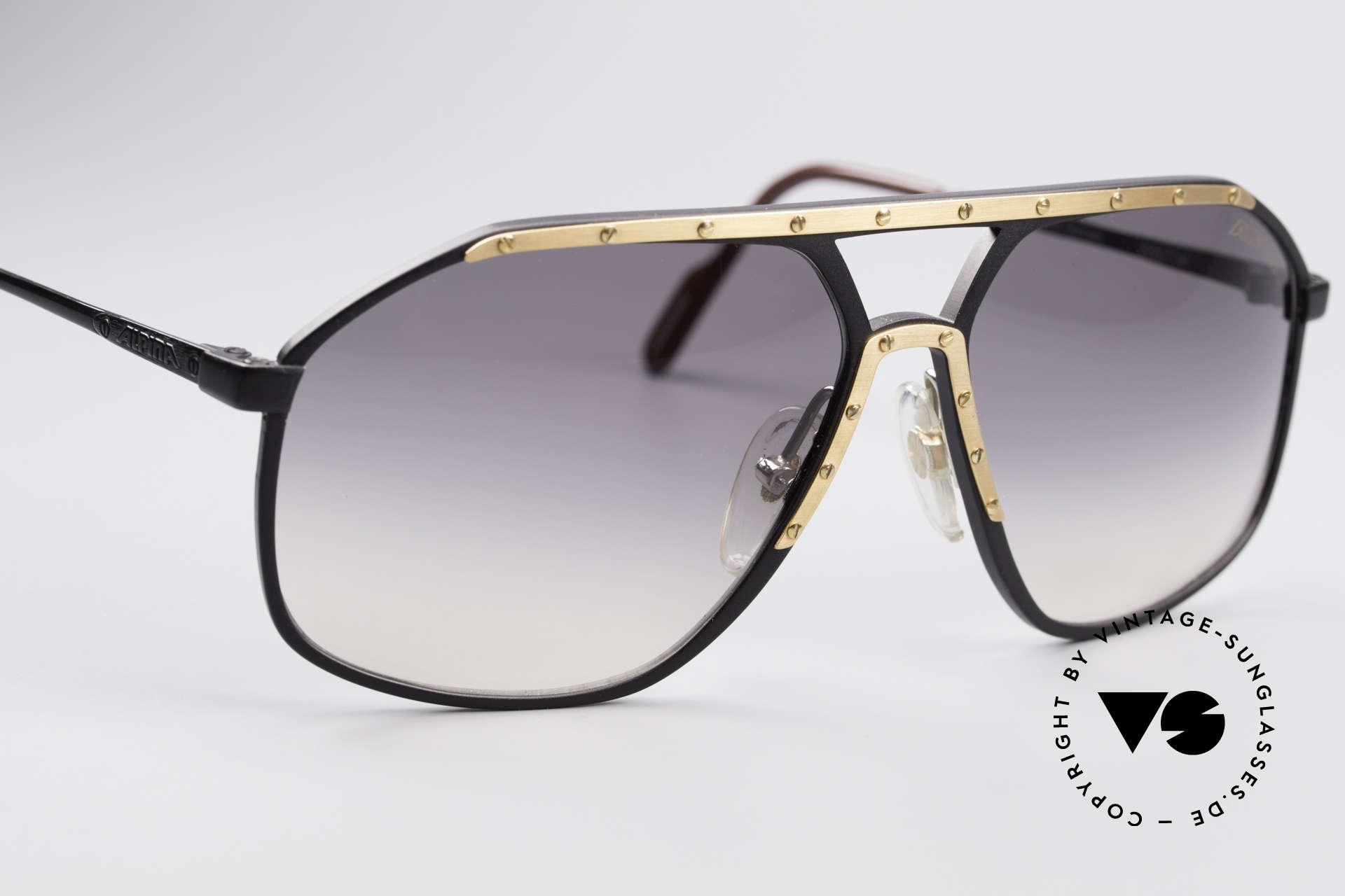 Alpina M1/7 Echte Vintage Sonnenbrille, ungetragen (wie alle unsere VINTAGE Designerbrillen), Passend für Herren