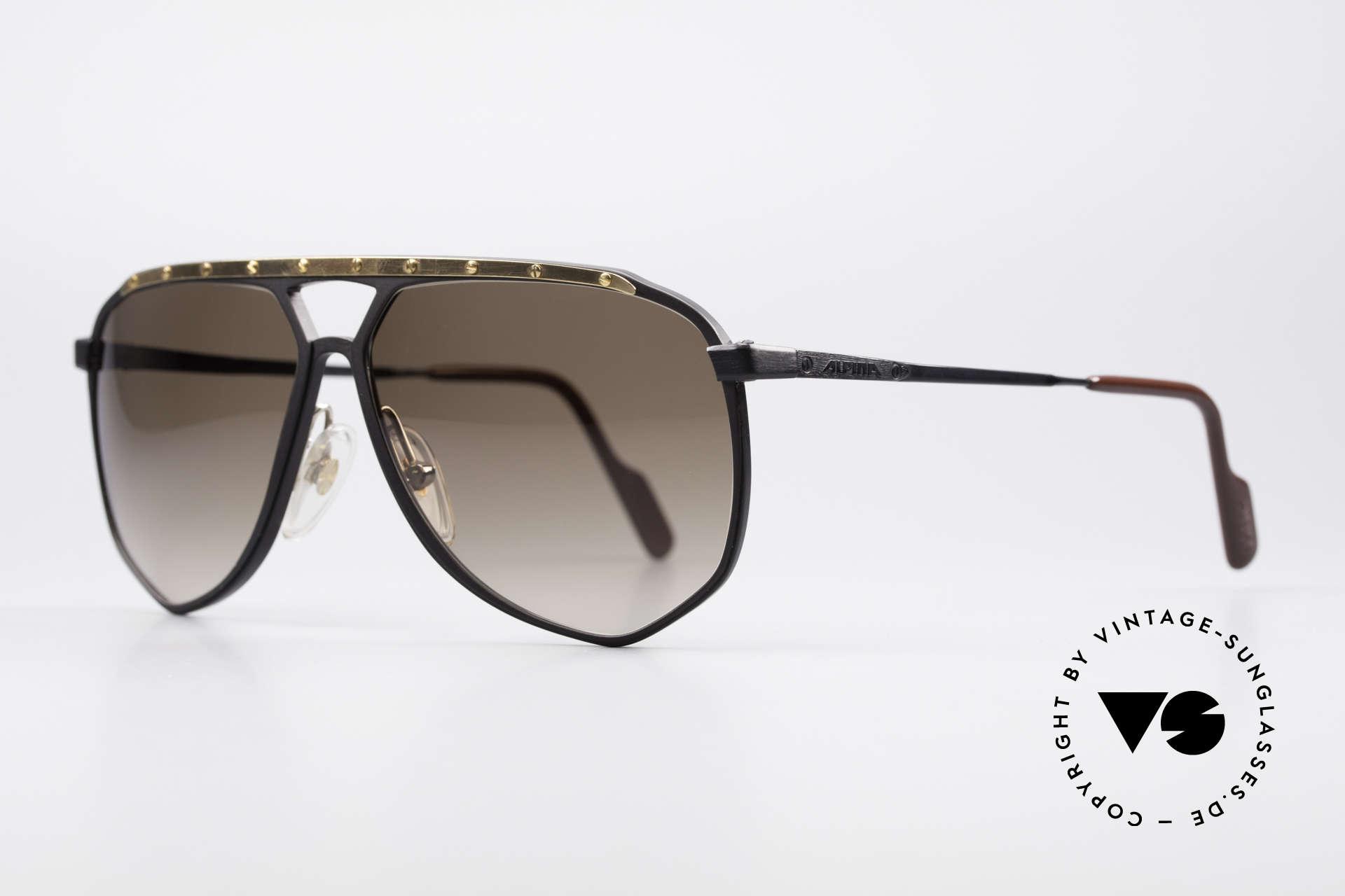 Alpina M1/4 Rare Vintage Sonnenbrille, absolute Rarität (Sammlerstück) mit Versace Etui, Passend für Herren