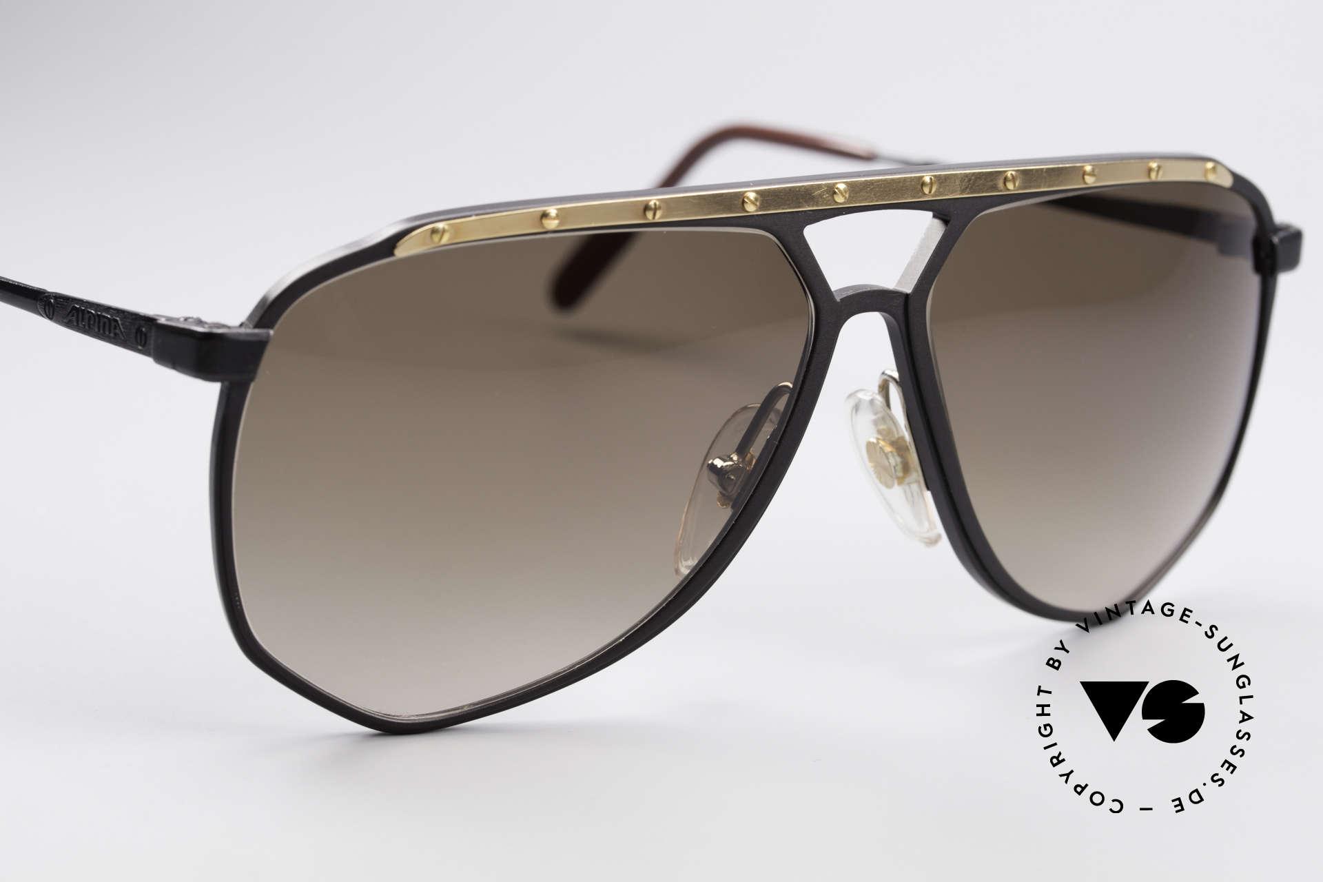 Alpina M1/4 Rare Vintage Sonnenbrille, KEINE RETROBRILLE; das 30 Jahre alte ORIGINAL, Passend für Herren