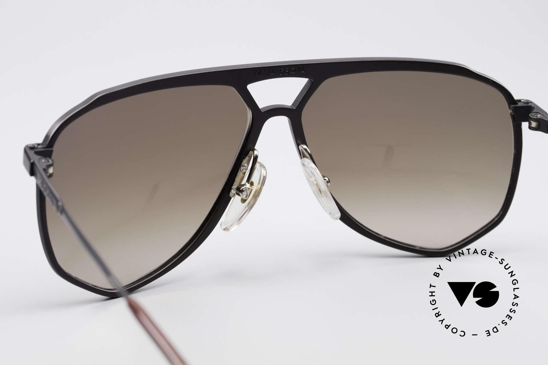 Alpina M1/4 Rare Vintage Sonnenbrille, die Fassung kann ggf. auch optisch verglast werden, Passend für Herren