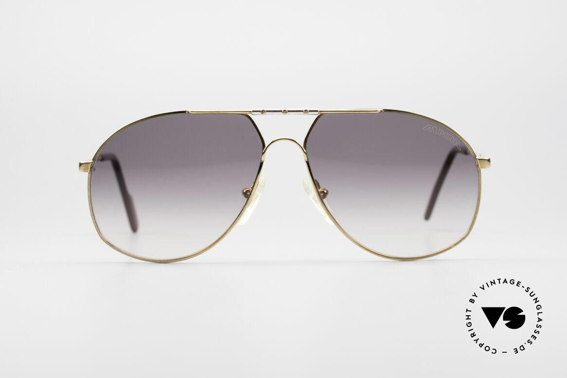 Alpina 704 Herren Piloten Sonnenbrille, legendäre Alpina Designersonnenbrille aus den 90ern, Passend für Herren