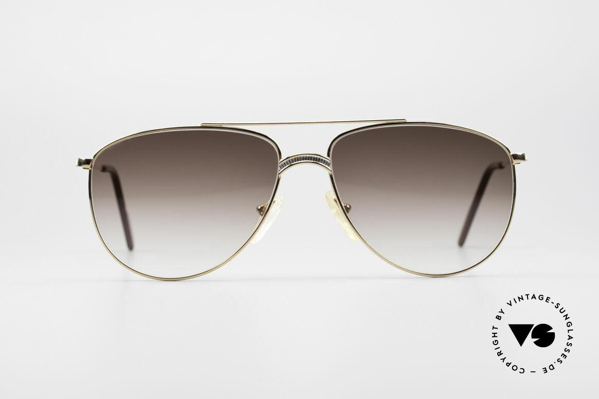 Alpina FM81 West Germany Vintage Brille, markante Brücke in einem edlen Titanium-Muster, Passend für Herren