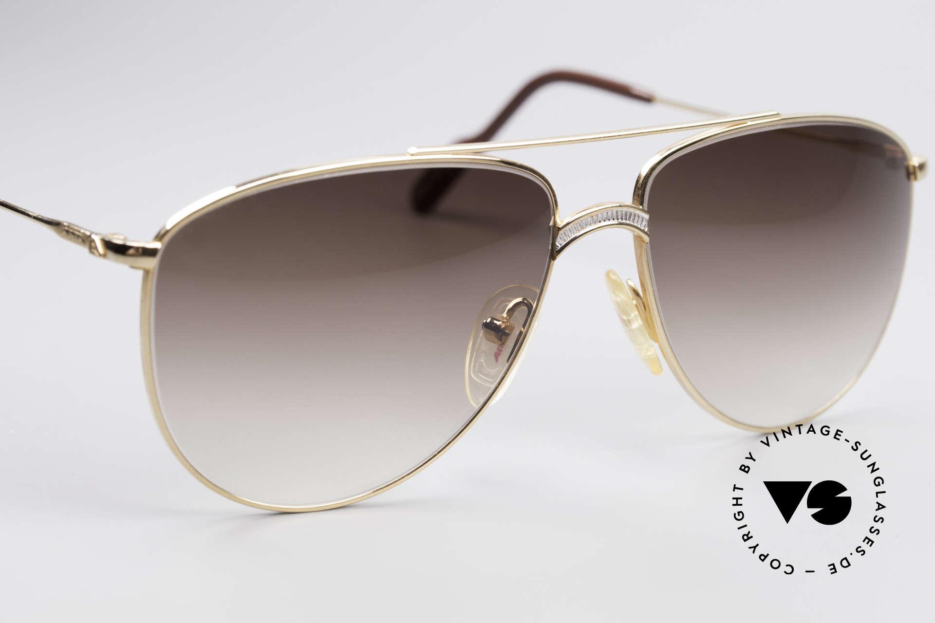 Alpina FM81 West Germany Vintage Brille, KEINE Retrobrille; ein 80er Original + Versace Etui, Passend für Herren