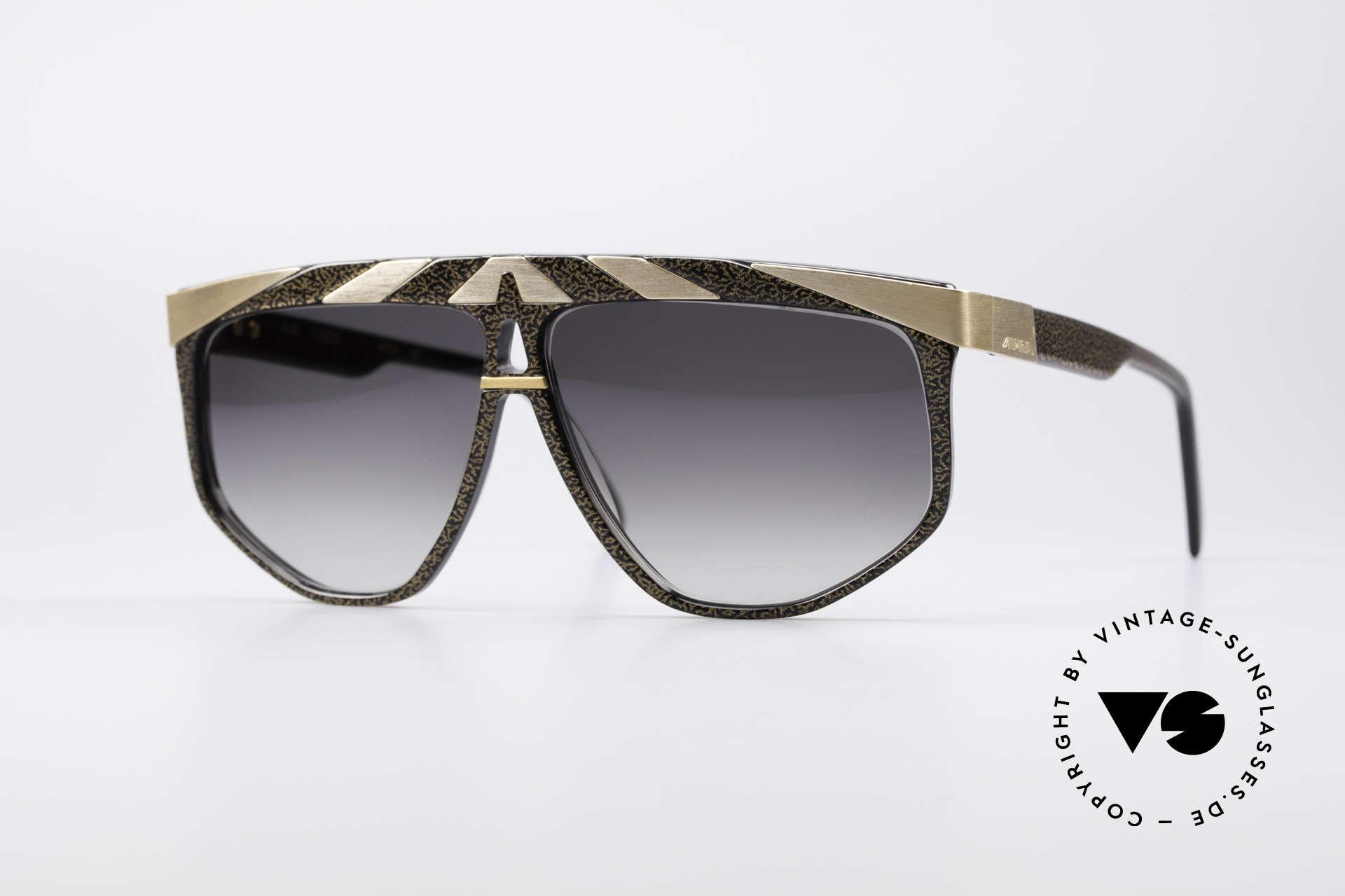 Alpina G82 Vergoldete 80er Sonnenbrille, vintage Modell aus dem 'Genesis Project' von Alpina, Passend für Herren und Damen
