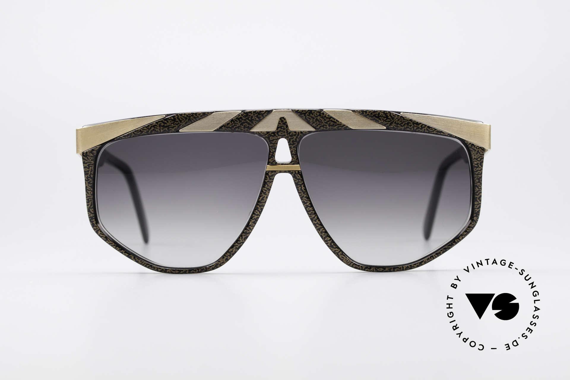 Alpina G82 Vergoldete 80er Sonnenbrille, außergewöhnliches Brillendesign in Farbe und Form, Passend für Herren und Damen
