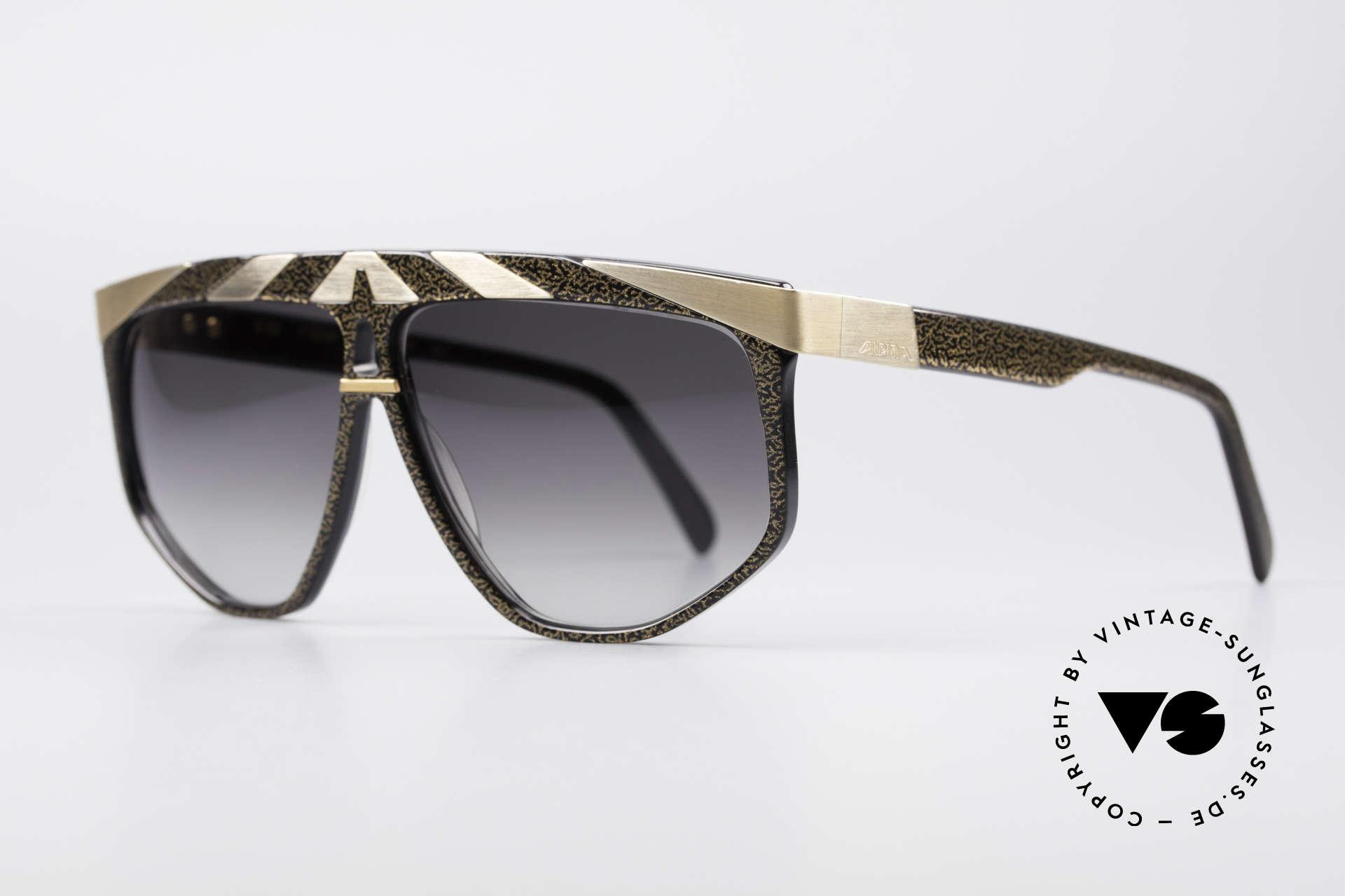Alpina G82 Vergoldete 80er Sonnenbrille, echte Handarbeit aus den 80ern (made in W.Germany), Passend für Herren und Damen