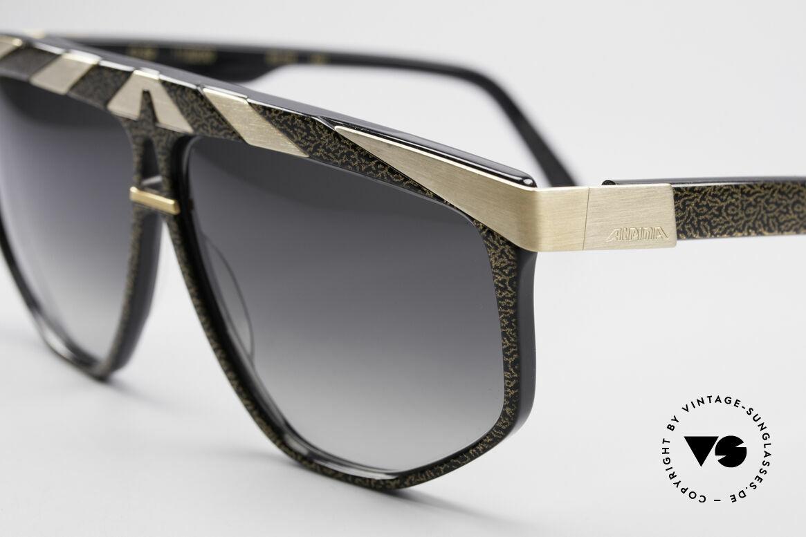 Alpina G82 Vergoldete 80er Sonnenbrille, Top-Qualität (24kt vergoldete Metall-Applikationen), Passend für Herren und Damen