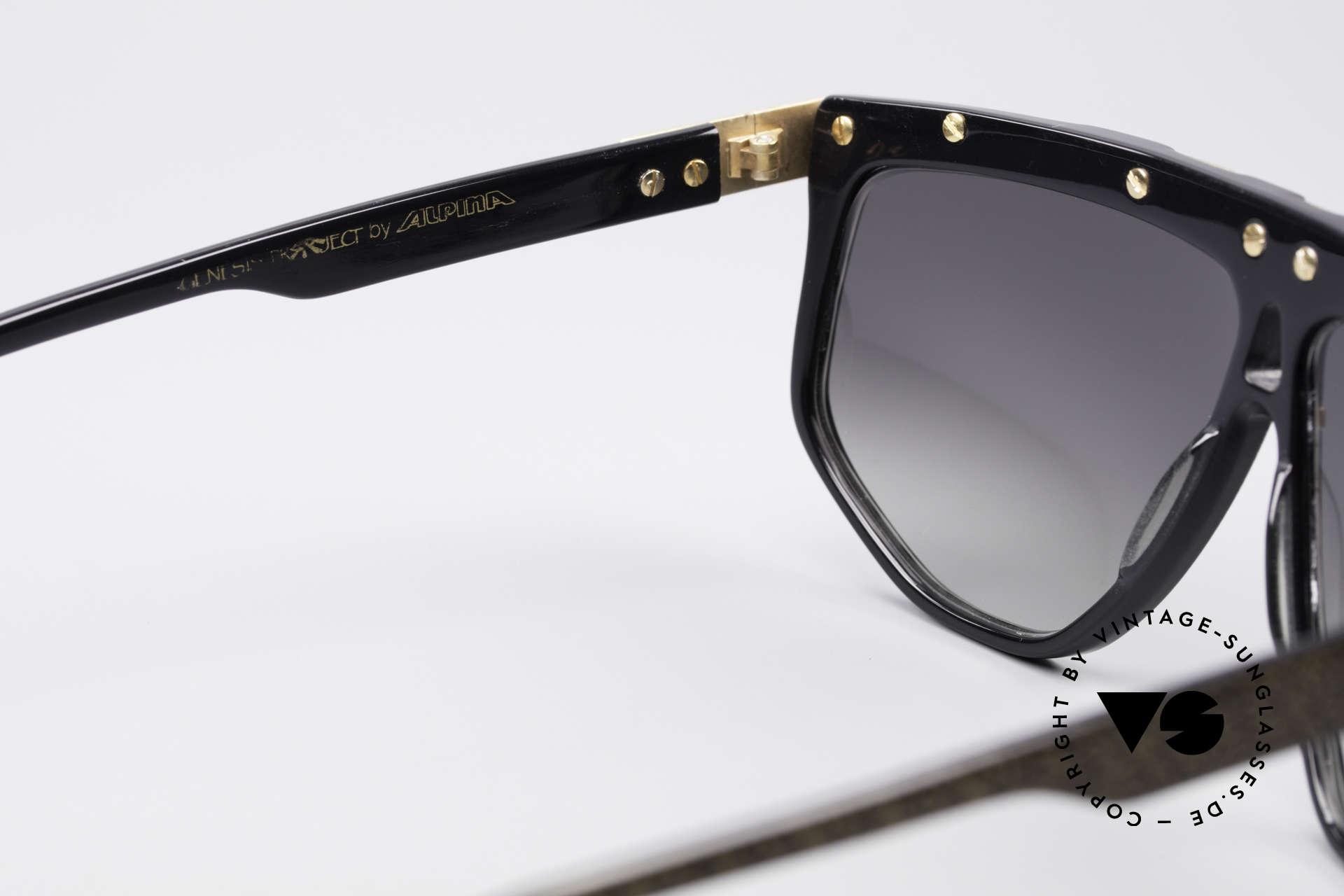 Alpina G82 Vergoldete 80er Sonnenbrille, KEINE RETROMODE; Unikat von 1985 + Versace Etui, Passend für Herren und Damen