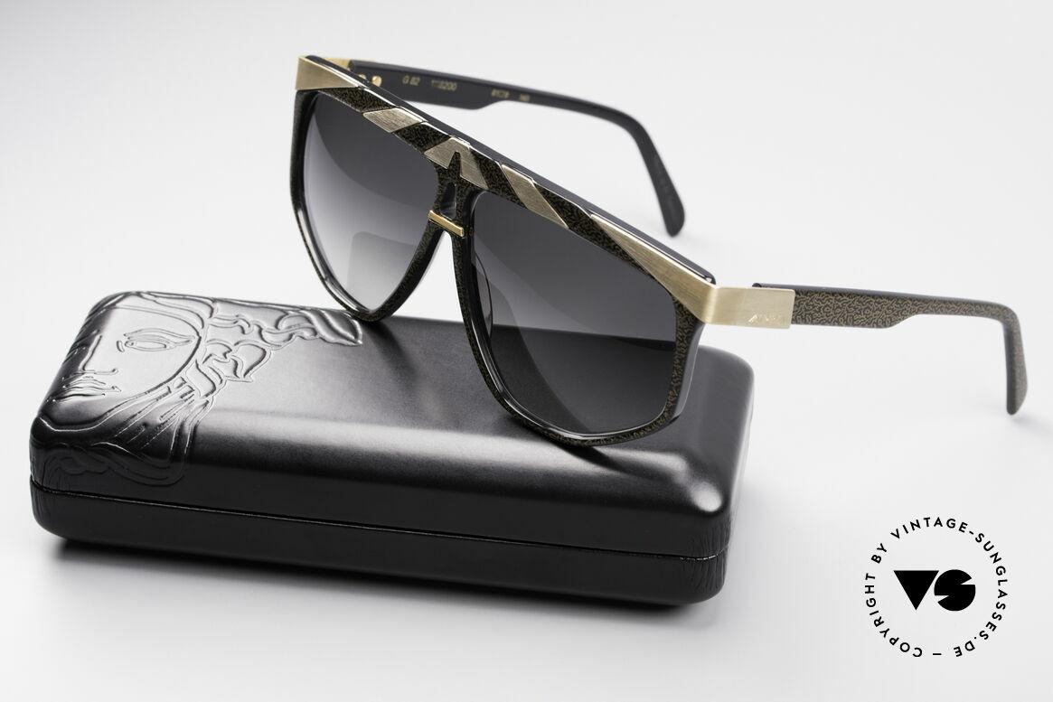 Alpina G82 Vergoldete 80er Sonnenbrille, Größe: medium, Passend für Herren und Damen