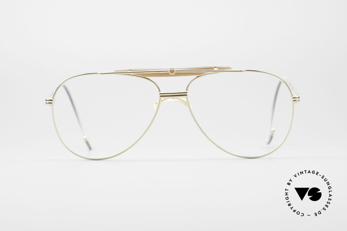 Alpina PCF Vergoldete 90er Sport Brille, Alpina Brille aus der legendären ProCar-Series, Passend für Herren
