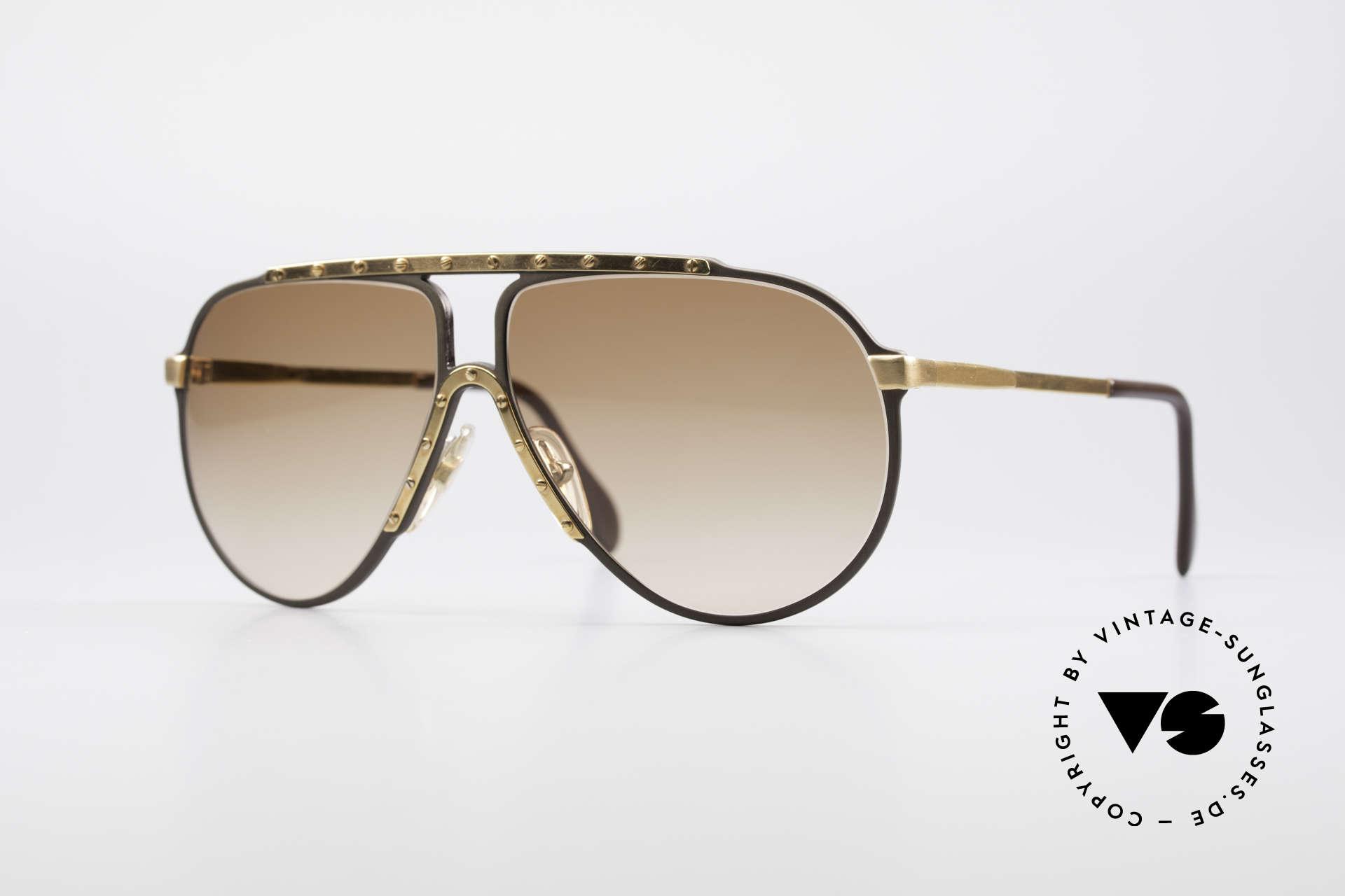 Alpina M1 West Germany Sonnenbrille, legendäre Alpina M1 Sonnenbrille, Größe 60°12, Passend für Herren und Damen