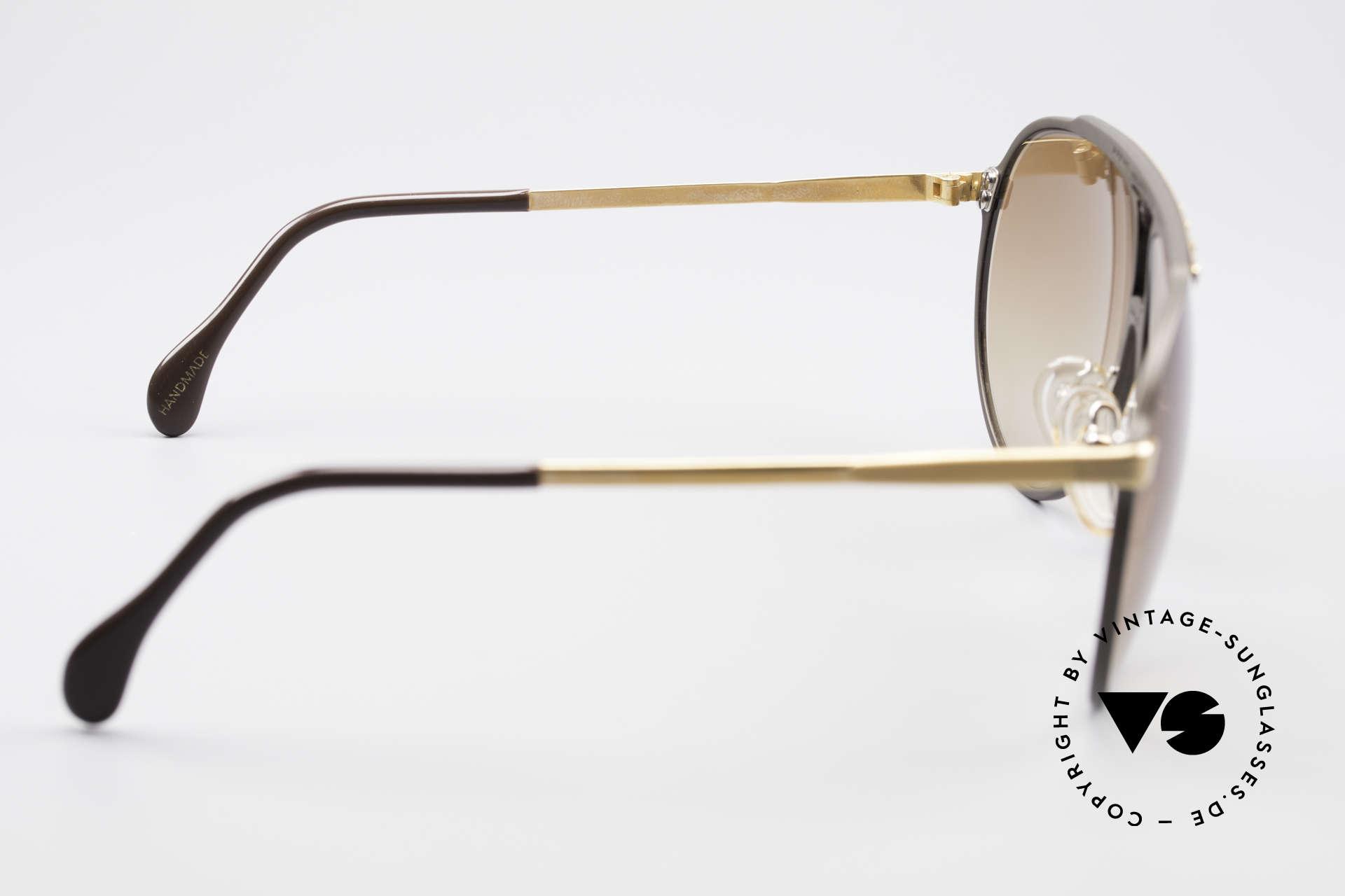 Alpina M1 West Germany Sonnenbrille, Fassung: braun-gold mit braunen Verlaufsgläsern, Passend für Herren und Damen