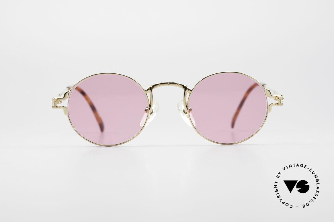 Jean Paul Gaultier 55-3171 Kleine Runde 90er Brille, kleine runde Jean Paul Gaultier vintage Sonnenbrille, Passend für Herren und Damen