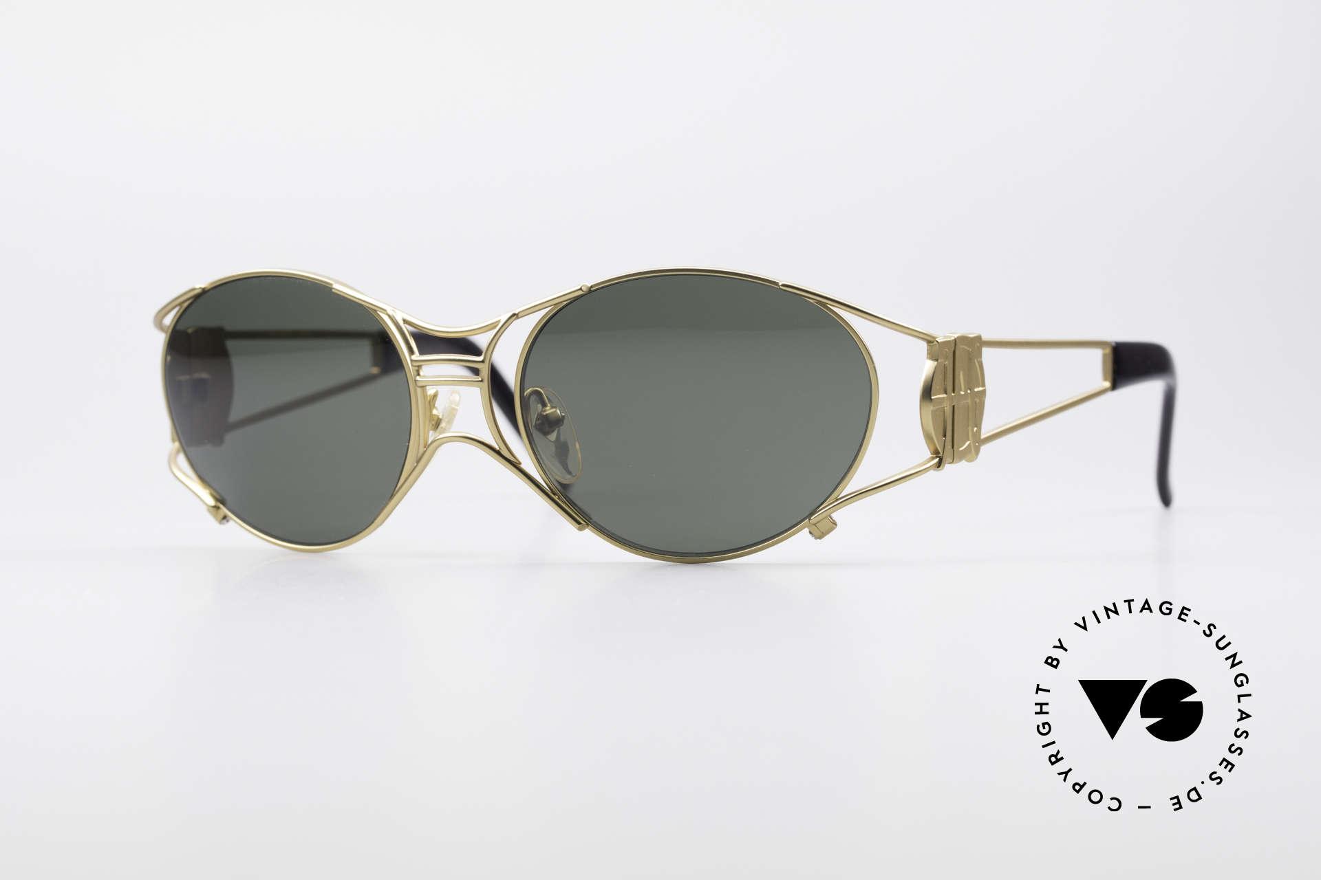 Jean Paul Gaultier 58-6101 90er Steampunk Sonnenbrille, seltene Jean Paul GAULTIER Designer-Sonnenbrille, Passend für Herren und Damen
