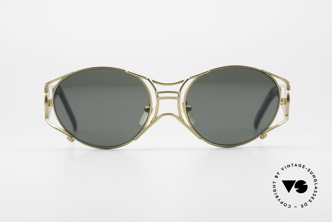 Jean Paul Gaultier 58-6101 90er Steampunk Sonnenbrille, mechanisches JPG Industrie-Design von 1997/1998, Passend für Herren und Damen
