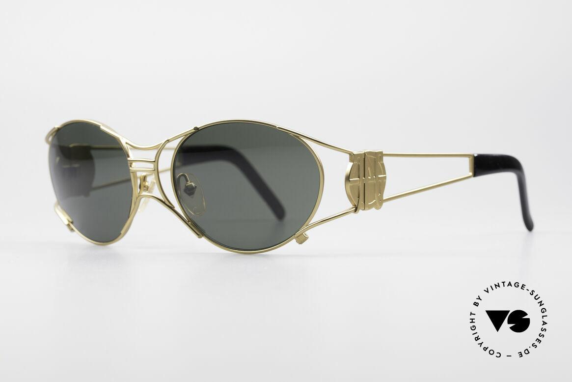 """Jean Paul Gaultier 58-6101 90er Steampunk Sonnenbrille, daher häufig auch als """"Steampunk Brille"""" bezeichnet, Passend für Herren und Damen"""