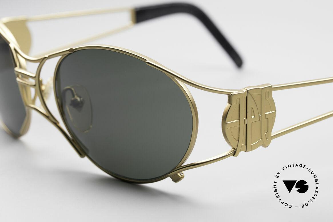 Jean Paul Gaultier 58-6101 90er Steampunk Sonnenbrille, herausragende Fertigungsqualität; made in JAPAN, Passend für Herren und Damen
