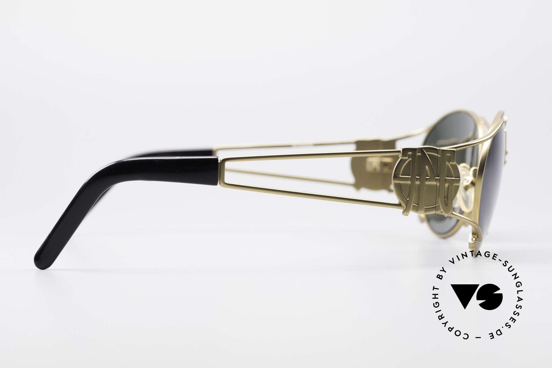 Jean Paul Gaultier 58-6101 90er Steampunk Sonnenbrille, KEINE Retrobrille, ein 20 Jahre altes Designerstück!, Passend für Herren und Damen
