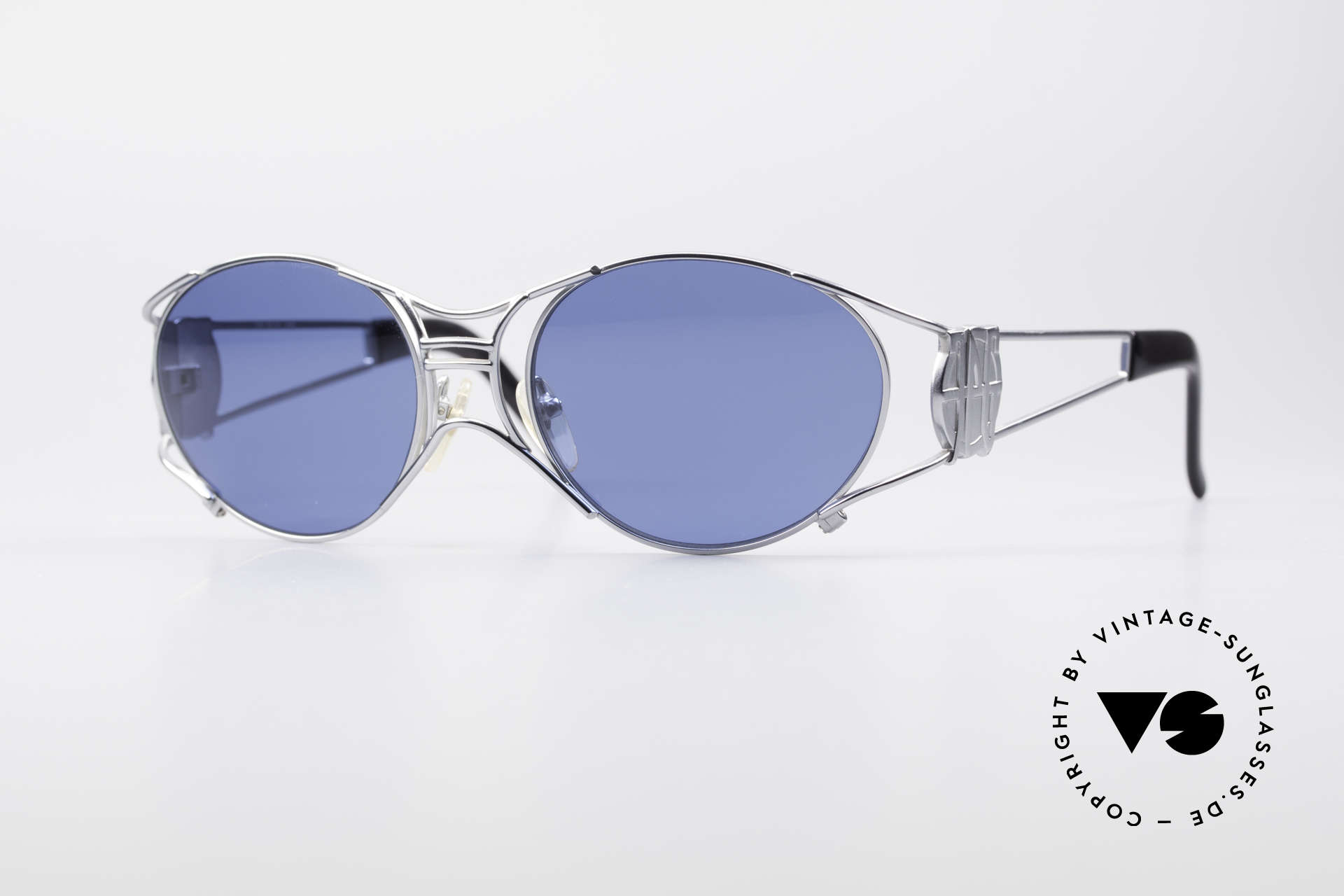 Jean Paul Gaultier 58-6101 JPG Steampunk Sonnenbrille, seltene Jean Paul GAULTIER Designer-Sonnenbrille, Passend für Herren und Damen