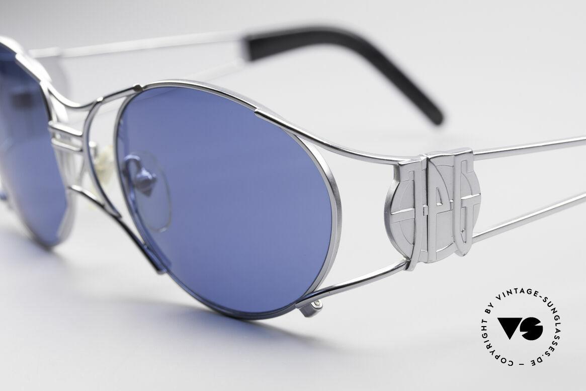Jean Paul Gaultier 58-6101 JPG Steampunk Sonnenbrille, herausragende Fertigungsqualität; made in JAPAN, Passend für Herren und Damen