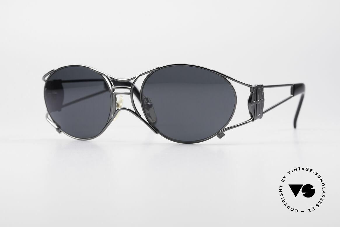 Jean Paul Gaultier 58-6101 Steampunk 90er Sonnenbrille, seltene Jean Paul GAULTIER Designer-Sonnenbrille, Passend für Herren und Damen