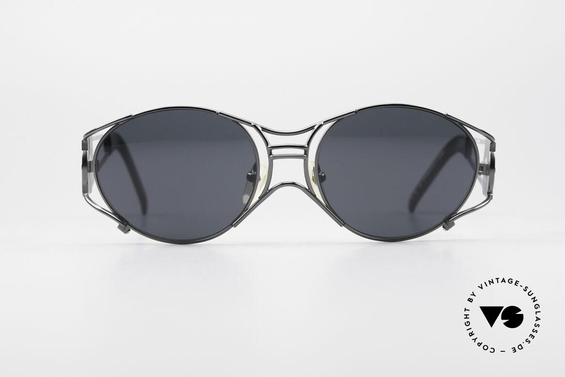 Jean Paul Gaultier 58-6101 Steampunk 90er Sonnenbrille, mechanisches JPG Industrie-Design von 1997/1998, Passend für Herren und Damen