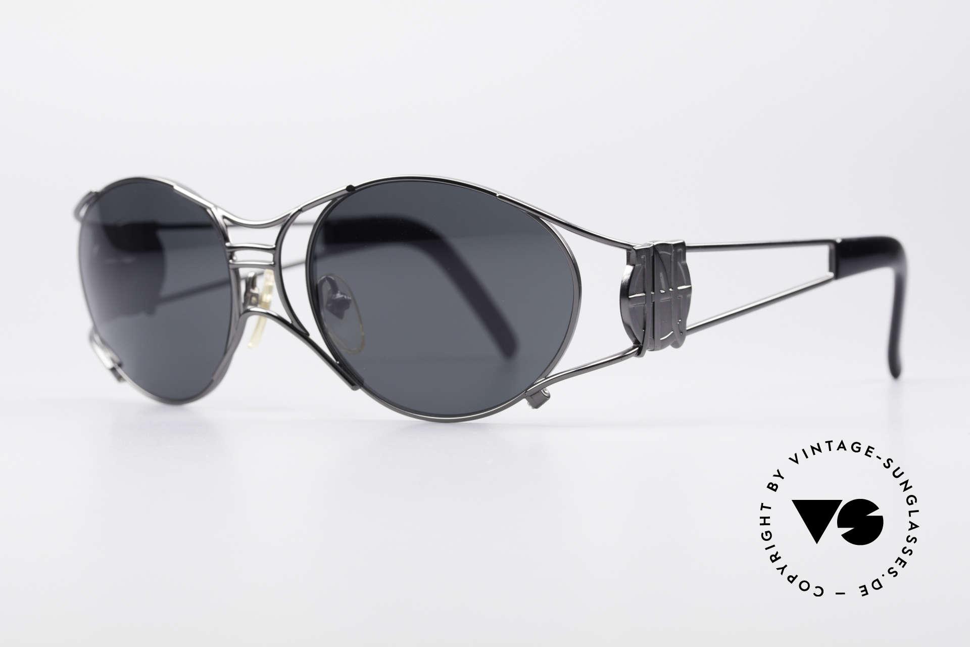 """Jean Paul Gaultier 58-6101 Steampunk 90er Sonnenbrille, daher häufig auch als """"Steampunk Brille"""" bezeichnet, Passend für Herren und Damen"""