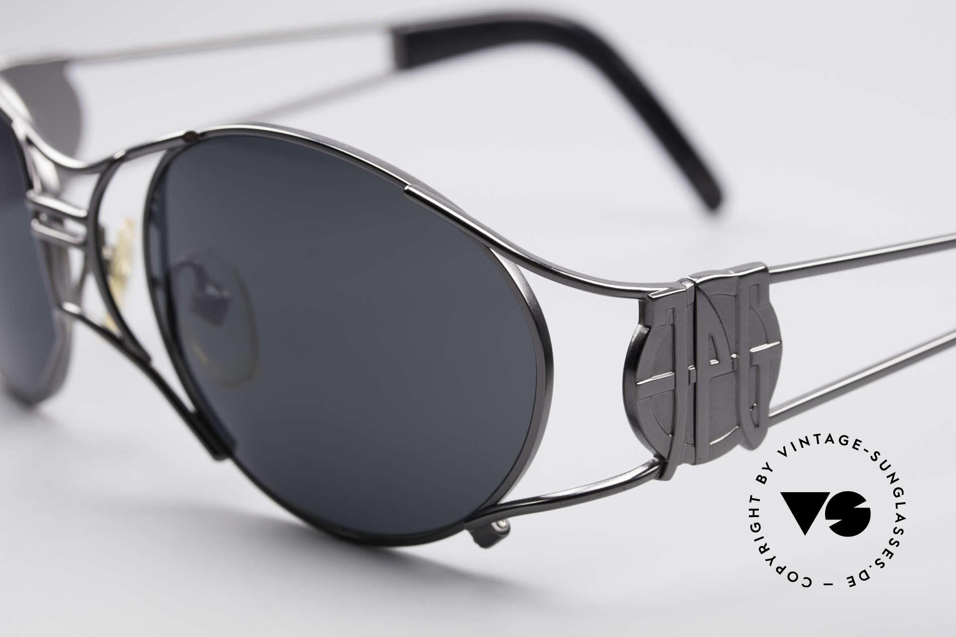 Jean Paul Gaultier 58-6101 Steampunk 90er Sonnenbrille, herausragende Fertigungsqualität; made in JAPAN, Passend für Herren und Damen