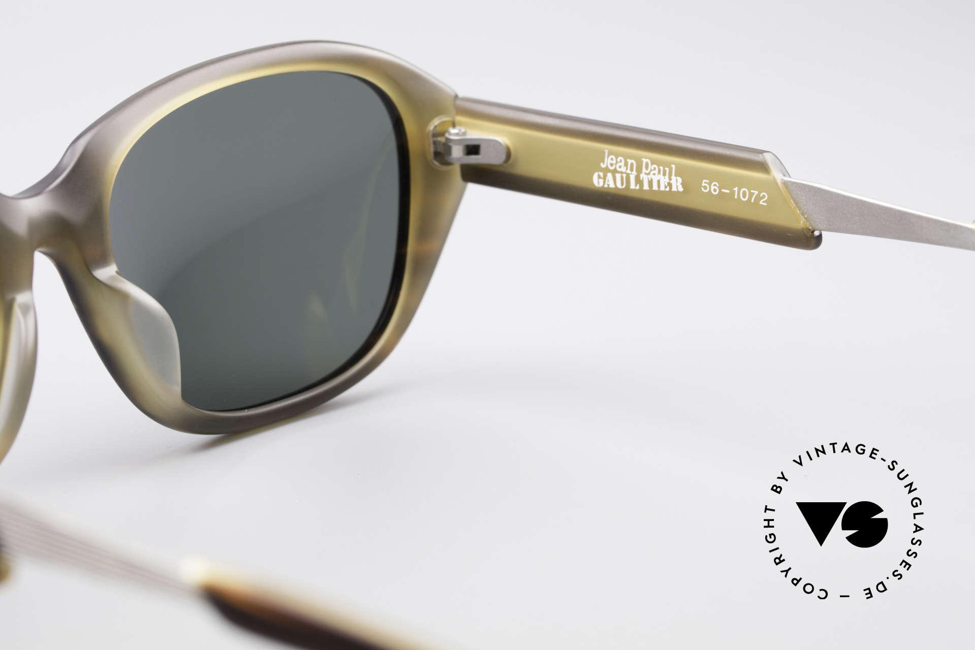 Jean Paul Gaultier 56-1072 90er Designer Sonnenbrille, Größe: medium, Passend für Herren und Damen