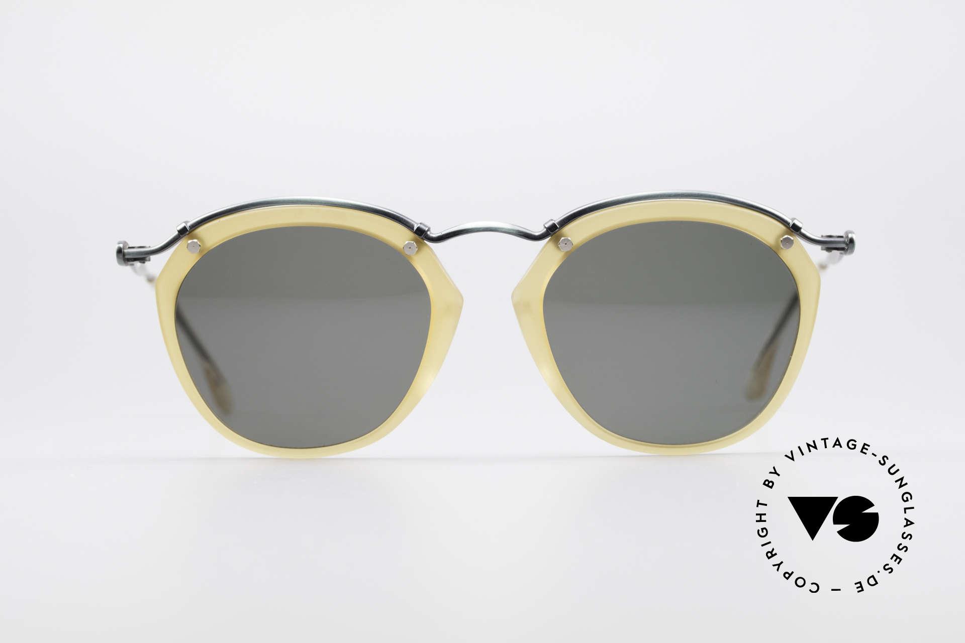 Jean Paul Gaultier 56-1273 Panto Style Sonnenbrille, Gaultiers Interpretation einer Panto-Sonnenbrille, Passend für Herren und Damen
