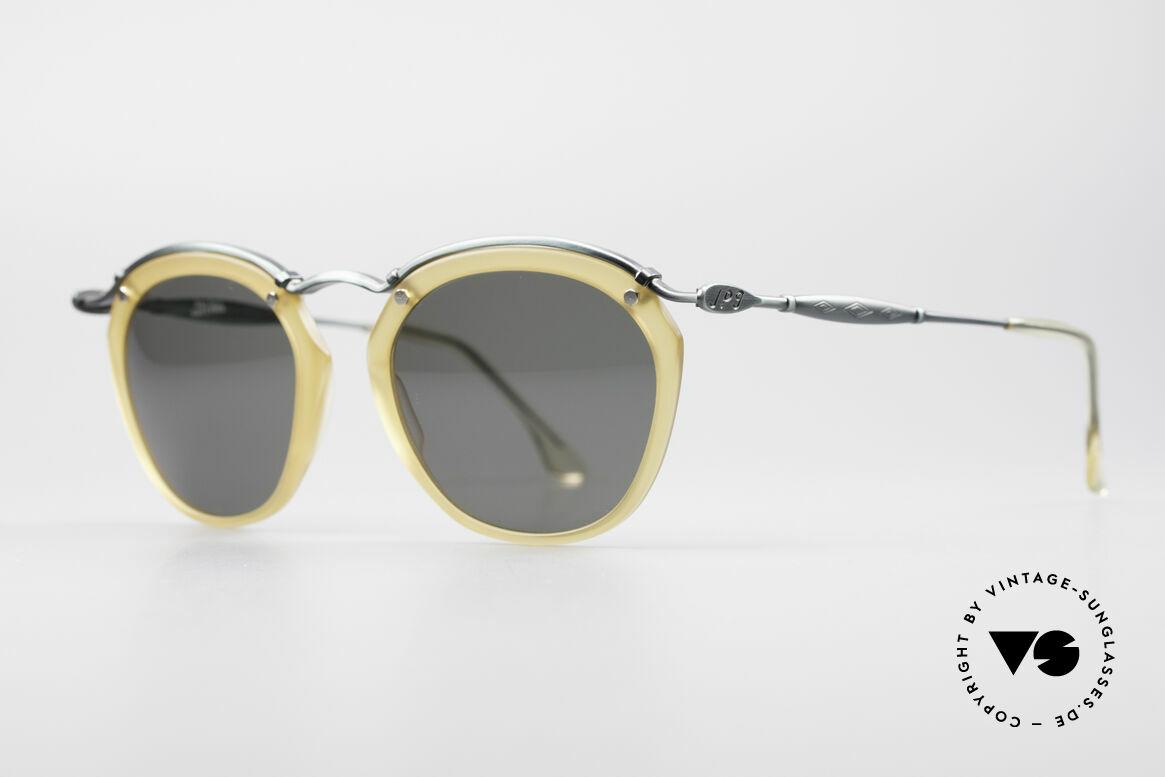 Jean Paul Gaultier 56-1273 Panto Style Sonnenbrille, sehr interessante Material- und Farb-Kombination, Passend für Herren und Damen