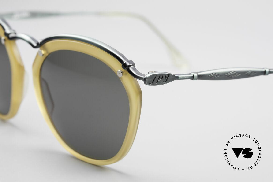 Jean Paul Gaultier 56-1273 Panto Style Sonnenbrille, Rahmen in 'smoke green' & Fassung in honig-gelb, Passend für Herren und Damen