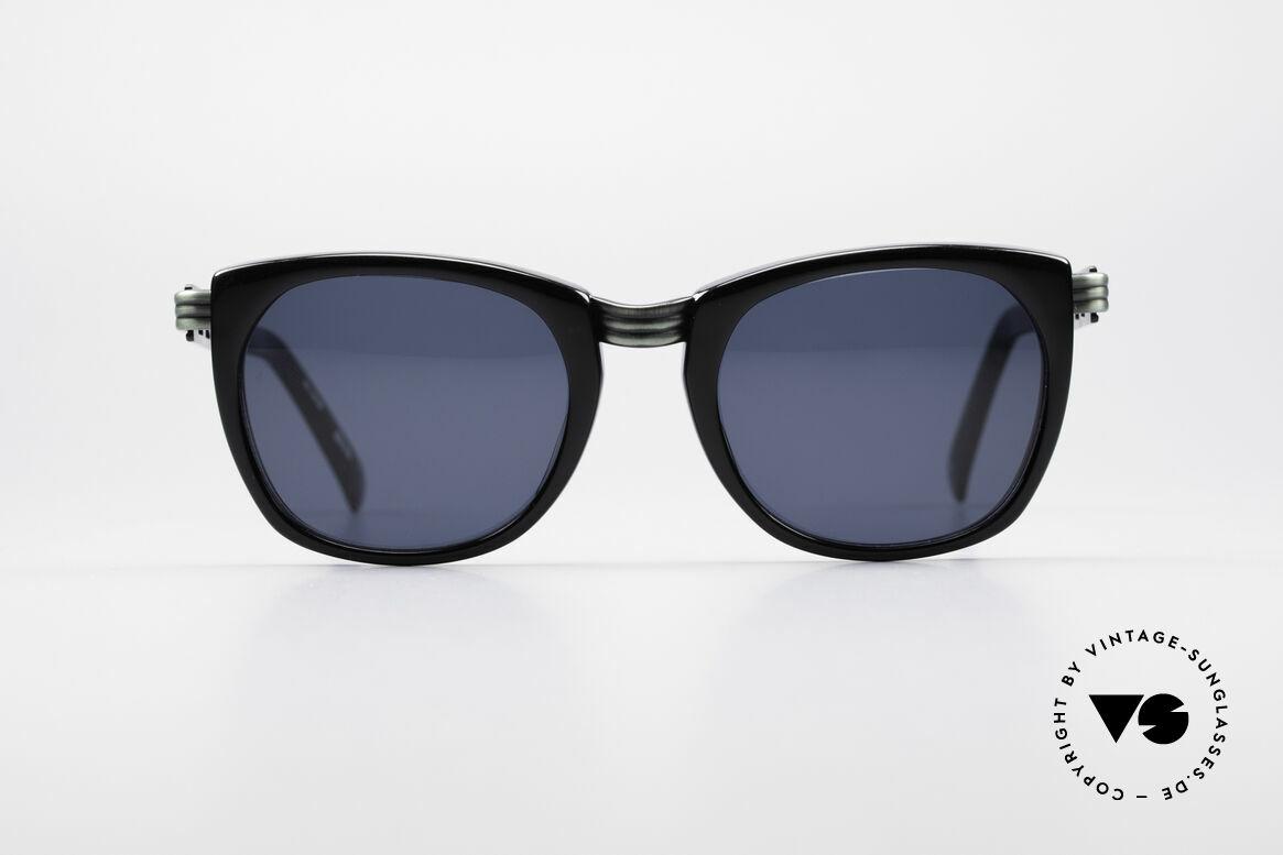 Jean Paul Gaultier 56-0272 Steampunk 90er Sonnenbrille, markante Rahmengestaltung 'Steampunk Stil', Passend für Herren und Damen