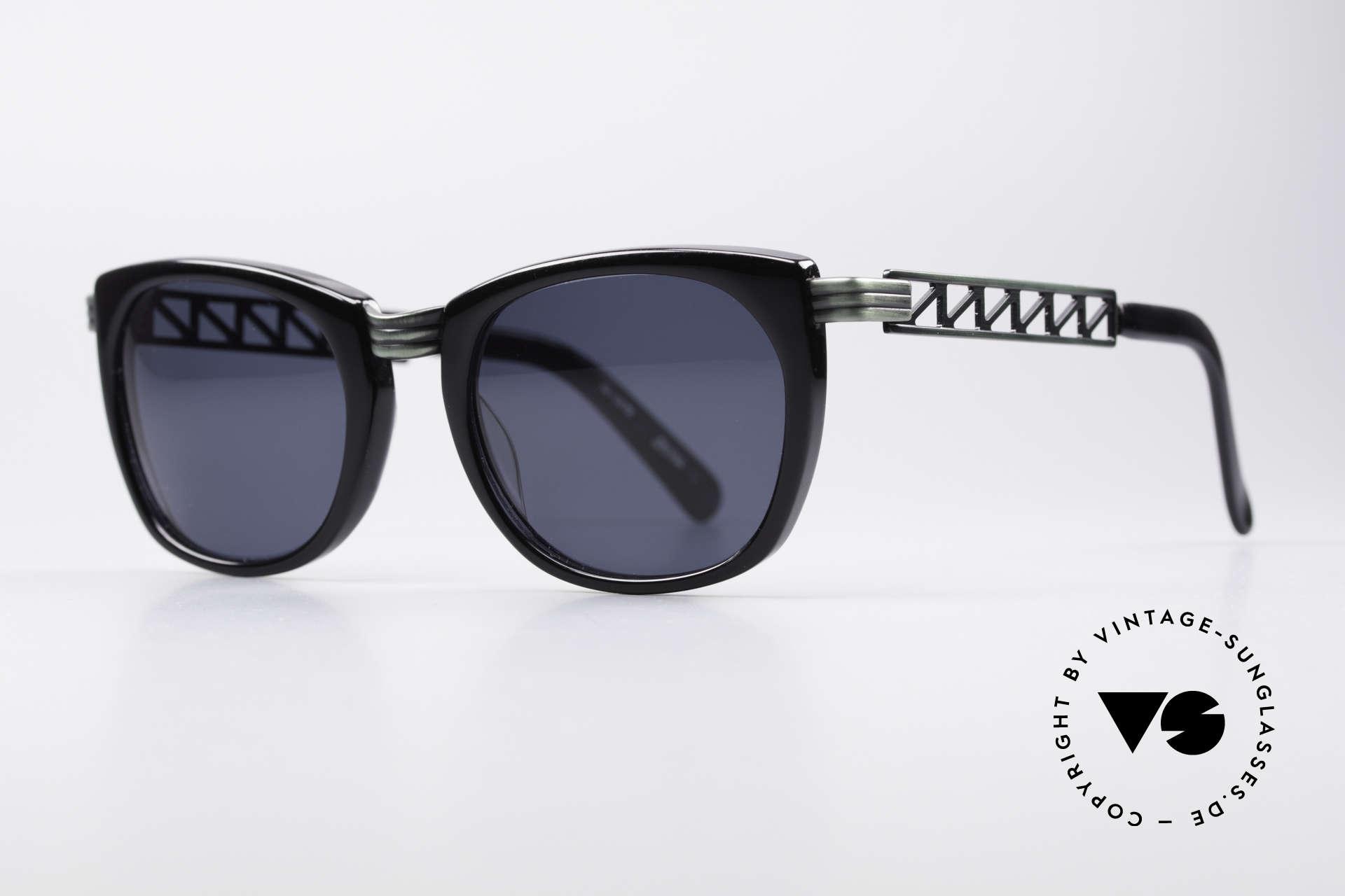 """Jean Paul Gaultier 56-0272 Steampunk 90er Sonnenbrille, """"rusty green"""" Lackierung & dunkelblaue Gläser, Passend für Herren und Damen"""