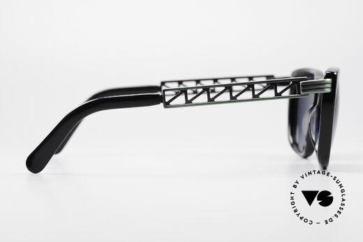 Jean Paul Gaultier 56-0272 Steampunk 90er Sonnenbrille, Fassung kann ggf. auch optisch verglast werden, Passend für Herren und Damen
